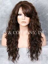 Heat Resistant Long Curly Wavy Full Body Wig  Brown Strawberry Blonde HSP 4-27