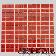 Mosaik Fliesen rot Glas Bad WC Küche Dusche Fliesenspiegel Art: 60-0904   1qm
