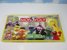 Monopoly Board Game SESAME STREET 35 Year Anniversary Complete