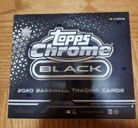 New 2020 Topps Baseball - CHROME BLACK EDITION (Hobby Box - Factory Sealed)