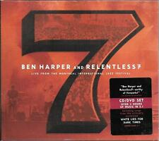 CD LIVE DIGIPACK 13 TITRES + DVD 15 TITRES--BEN HARPER & RELENTLESS 7--MONTREAL
