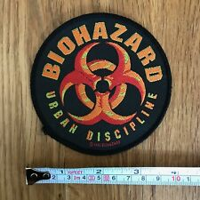 BIOHAZARD Rare Urban Discipline 1993 UK Woven Embroidered Sew On Patch