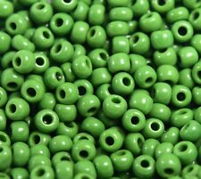 """Murano Italian Vtg Glass  Seed Beads Size 8/0 """" Forest Green """" Loose 50 Grams"""