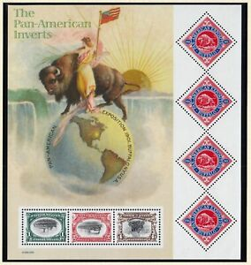 2001 Pan-American Inverts Sc 3505 full MNH sheet of 7 different