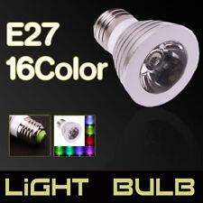 E27 3W RGB LED Bulb SpotLight lamp Remote Control 16 Color Magic 85-265V