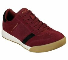 Skechers Men's 52325/BUBK Zinger Wildview Suede Casual Shoe Burgundy/Black