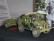 King and country DD202 Morris C8 camión tractor de artillería de campo + vehículo relajado