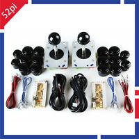 Arcade Game Kit DIY Parts for JAMMA MAME: PC USB Encoder+Joysticks+Push Buttons