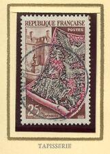 STAMP / TIMBRE FRANCE OBLITERE N° 970 TAPISSERIE ET COUR DES GOBELINS