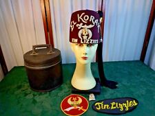 Vintage El Korah Tin Lizzies Fez Hat Plus w/Zippered Case-Size 7 1/8