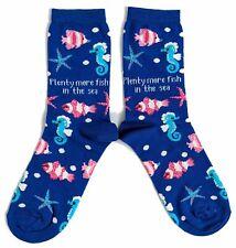 Ladies Plenty More Fish In The Sea Marine Socks 4-8 UK / 37-42 Eur / 6-10 US