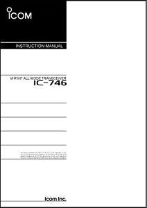 Icom IC-746 Transceiver Instruction Manual
