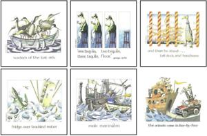 Simon Drew Set 1 Coasters - Set of 6