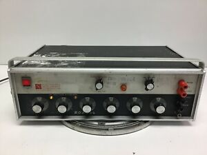EDC MV106 DC Voltage Standard 0.1uV to 10 V TESTED