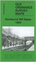 OLD ORDNANCE SURVEY MAP ROMFORD SW ESSEX 1893 BILLERICAY ILFORD PLAISTOW RAINHAM