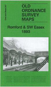 Old Ordnance Survey Map Romford & SW Essex 1893 - England Sheet 257
