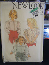 New Look 6649 Girl's Blouses Pattern - Size 3-8