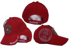 Bestickt Usmc Marines Marine Schatten Rot Semper Fi Emblem Baseballhut Kappe