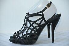 NEW BCBGeneration Kelsi Womens Sz 10 M Black Strappy Slingback Ankle Strap Heels