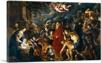 ARTCANVAS Adoration of the Magi 1610 Canvas Art Print by Peter Paul Rubens