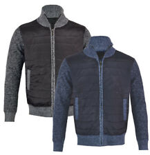 Mens Premium Fashion Fleece  Lined Knitted Quilted  Warm Jacket M-2XL