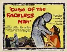 Curse Of Faceless Man Poster 02 Metal Sign A4 12x8 Aluminium