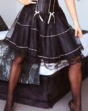 Sexy Women's Black and White Lace Mini Skirt Tutu Accessory