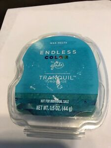 Rare Glade Endless Color Tranquil Turquoise Wax Melts 1.5 oz Discontinued