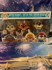 Funko Pop Disney parks Exclusive Splash Mountain 3-Pack Set Brer Bear Rabbit Fox