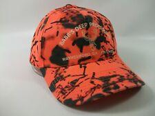 Babb's Deer Processing Hat Orange Snapback Baseball Cap