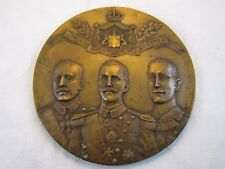 Antique Ww1 Military European Height Relief Bronze Wall Plaque signed Sammartino