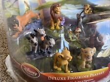 Collectible Disney Store The Lion King Deluxe PVC Figure Set Playset 8 piece