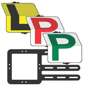 """Learner &Provisional  Drivers """"Eureka"""" Pack  L/Red/Green P  Plate - Clip Plate"""