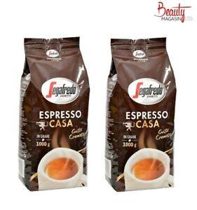 2x1kg Segafredo Casa coffee beans (Pack Of 2)