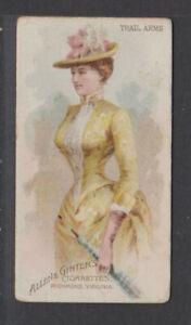 CIGARETTE CARDS Allen & Ginter 1888 Parasol Drill - #48 Trail Arms