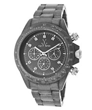 NWT ToyWatch Unisex FLP08GU Pearlized Gunmetal Chronograph Watch