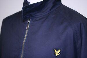 Lyle & Scott Classic Harrington Jacket - XXL/2XL - Navy Blue - Mod Casuals Top