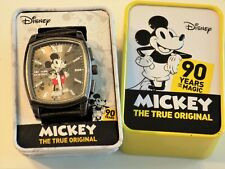 New Mickey Mouse 90th Anniversary Disney Wrist Watch in Collectible Metal Tin