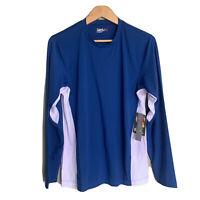 QUICKSILVER Surf Logo Mens Performance Pullover Shirt L/S   Blue Nwt$55