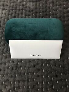 Gucci Brand New Sunglass Case Green Velvet