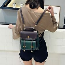 Fashionable Little Bee Vintage Pu Leather Women Backpack Simple Preppy Style