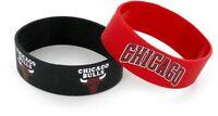 CHICAGO BULLS - SILICONE BRACELETS - 2 PACK - BRAND NEW - NBA-BC-207-10