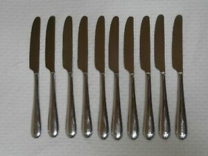 10 COUTEAUX DE TABLE  ALESSI EN INOX