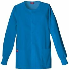 885306 Womens Missy Every Day Scrubs Round Neck Jacket Island Blue 4X-Lg