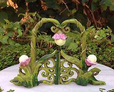 Miniature Dollhouse FAIRY GARDEN ~ GLOW in the DARK Flower & Vine Gate