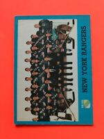 New York Rangers Team Card 1962-63 Topps #65  Vintage Hockey Card