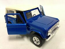 "1973 FORD BRONCO HARD TOP, 5""  DIECAST 1:32 PULL BACK JADA TOY, JUST TRUCK BLUE"