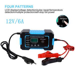 Intelligent Chargeur de Batterie Prise EU pour Batterie de Voiture,Moto Bateau