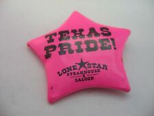 Texas Pride! Pink Badge Design Pin ~ Lone Star Steakhouse & Saloon