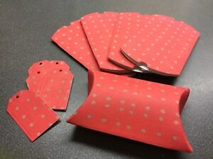 5 X Red Gift / Pillow Boxes